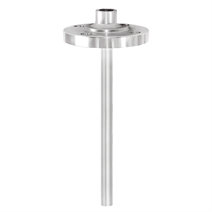 Thermowell with threaded flange (solid-machined)